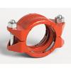 Rillkoppling, RoutTyp-A-Bout, orange, för montering på slätände, orillade Typ 99, Victaulic produktblad 14.02