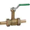 Kulventil för presskoppling och hög hals AL3616, tappvatten